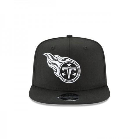 TENNESSEE TITANS BLACK AND WHITE HIGH CROWN 9FIFTY SNAPBACK
