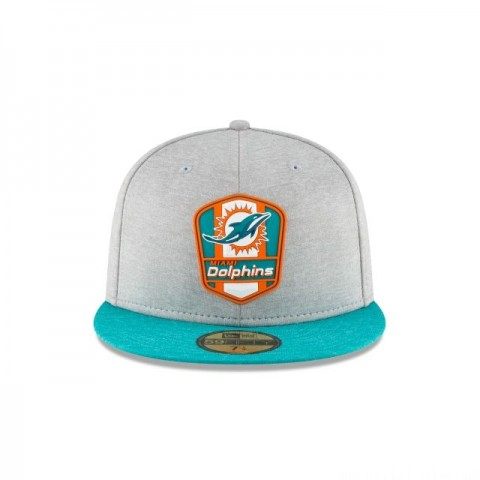 MIAMI DOLPHINS OFFICIAL SIDELINE ROAD 59FIFTY FITTED - Sale