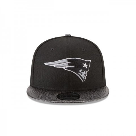 NEW ENGLAND PATRIOTS SNAKESKIN BLACK 9FIFTY SNAPBACK - Sale