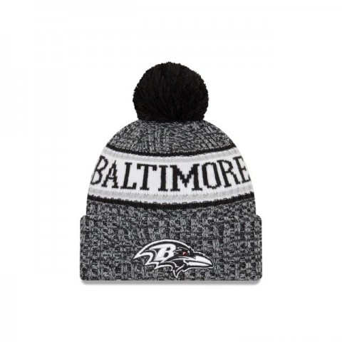 BALTIMORE RAVENS BLACK AND WHITE COLD WEATHER SPORT KNIT - Sale