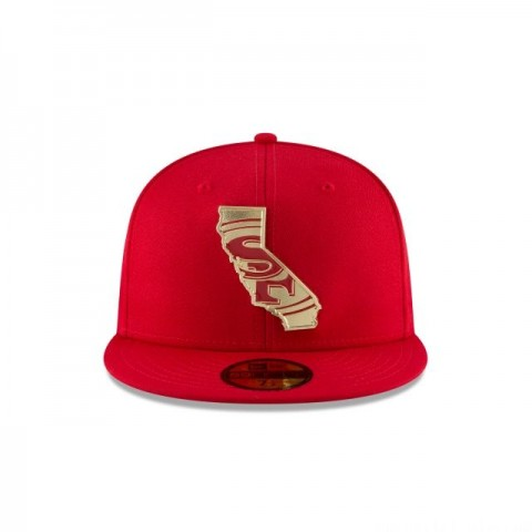 SAN FRANCISCO 49ERS GOLD STATED 59FIFTY FITTED