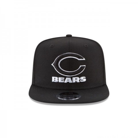 CHICAGO BEARS BLACK AND WHITE HIGH CROWN 9FIFTY SNAPBACK