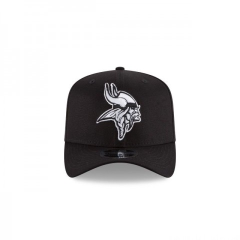MINNESOTA VIKINGS BLACK AND WHITE STRETCH SNAP 9FIFTY SNAPBACK - Sale
