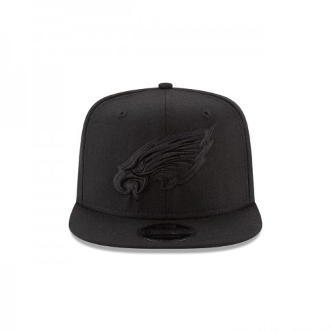 PHILADELPHIA EAGLES BLACK ON BLACK HIGH CROWN 9FIFTY SNAPBACK - Sale