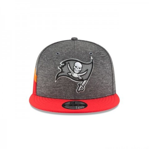 TAMPA BAY BUCCANEERS GRAPHITE SIDELINE HOME 9FIFTY SNAPBACK