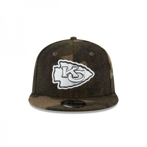 KANSAS CITY CHIEFS NFL CAMO MELTON 9FIFTY SNAPBACK