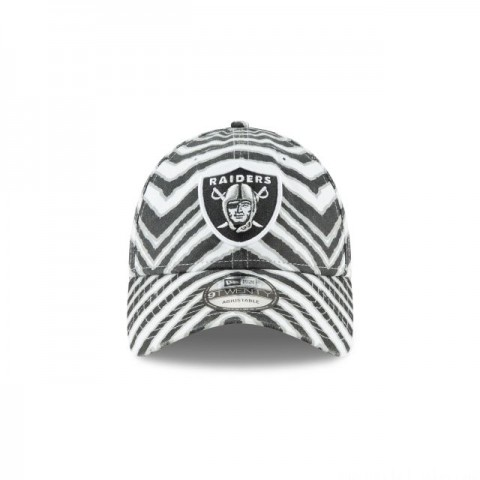 OAKLAND RAIDERS ZUBAZ ALLOVER 9TWENTY ADJUSTABLE - Sale