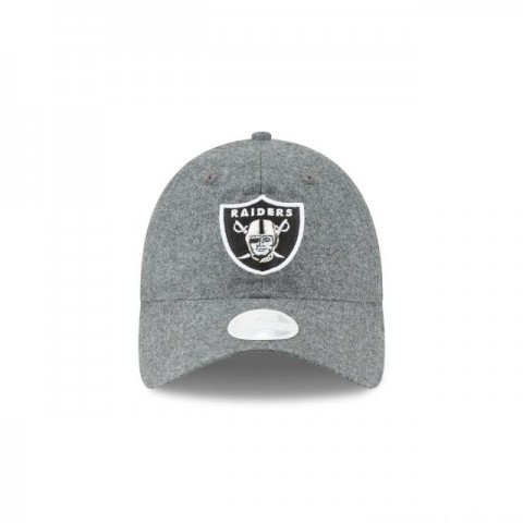 OAKLAND RAIDERS GRAY MELTON WOMENS 9TWENTY ADJUSTABLE - Sale