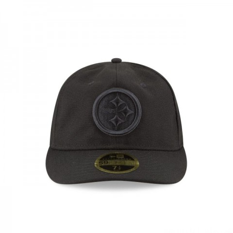 PITTSBURGH STEELERS FAN FIT RETRO CROWN BLACK 59FIFTY FITTED - Sale
