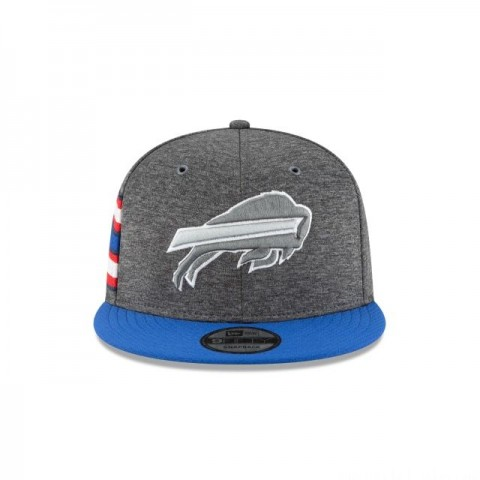 BUFFALO BILLS GRAPHITE SIDELINE HOME 9FIFTY SNAPBACK - Sale
