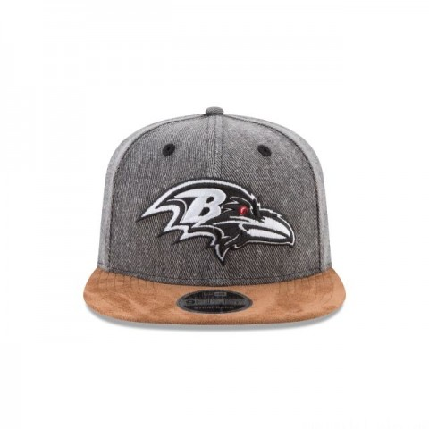 BALTIMORE RAVENS BUFFALO PLAID 9FIFTY SNAPBACK - Sale