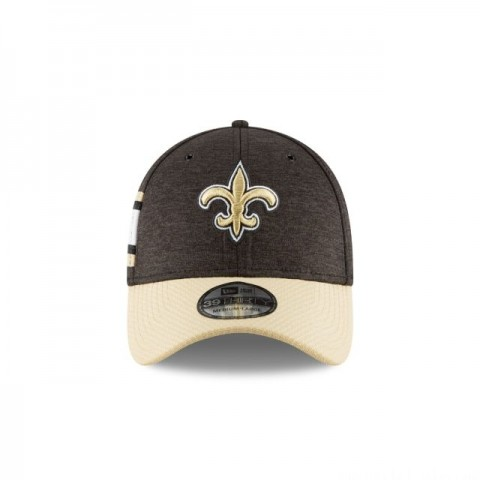 NEW ORLEANS SAINTS OFFICIAL SIDELINE HOME 39THIRTY STRETCH FIT