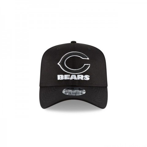 CHICAGO BEARS BLACK AND WHITE STRETCH SNAP 9FIFTY SNAPBACK