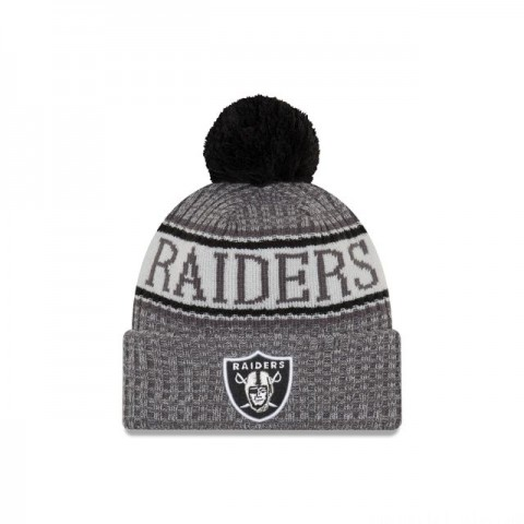 OAKLAND RAIDERS GRAPHITE COLD WEATHER SPORT KNIT