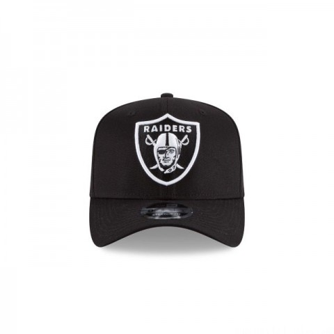 OAKLAND RAIDERS BLACK AND WHITE STRETCH SNAP 9FIFTY SNAPBACK - Sale