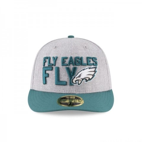 PHILADELPHIA EAGLES NFL DRAFT ON STAGE LOW PROFILE 59FIFTY FITTED - Sale
