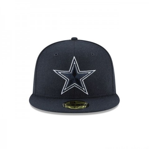 DALLAS COWBOYS NAVY MELTON WOOL 59FIFTY FITTED - Sale