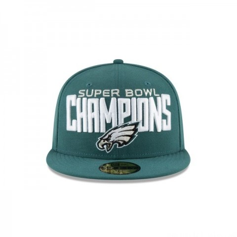 PHILADELPHIA EAGLES SUPER BOWL LII CHAMPIONS 59FIFTY FITTED - Sale