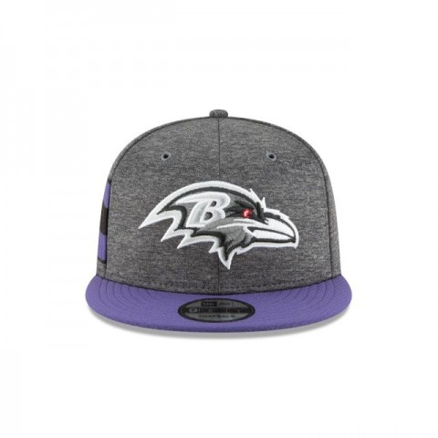 BALTIMORE RAVENS GRAPHITE SIDELINE HOME 9FIFTY SNAPBACK
