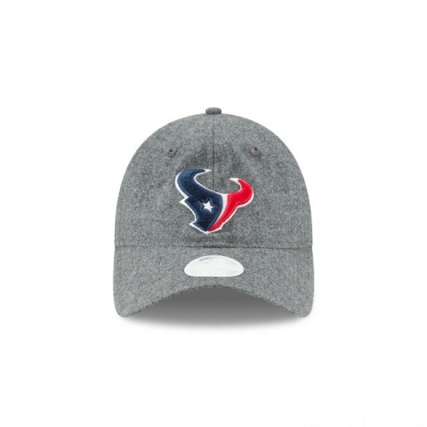 WOMENS HOUSTON TEXANS MELTON WOOL 9TWENTY ADJUSTABLE
