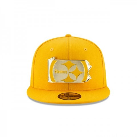 PITTSBURGH STEELERS GOLD STATED 59FIFTY FITTED - Sale