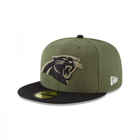 CAROLINA PANTHERS SALUTE TO SERVICE KIDS 59FIFTY FITTED