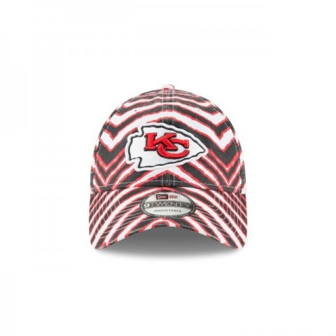KANSAS CITY CHIEFS ZUBAZ ALLOVER 9TWENTY ADJUSTABLE