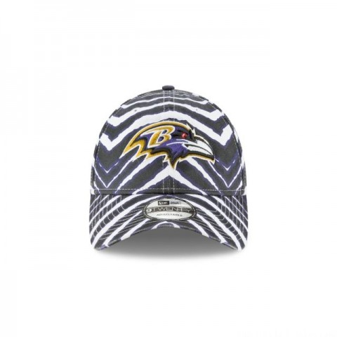 BALTIMORE RAVENS ZUBAZ ALLOVER 9TWENTY ADJUSTABLE - Sale