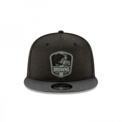 CLEVELAND BROWNS NFL SIDELINE ROAD 9FIFTY SNAPBACK - Sale