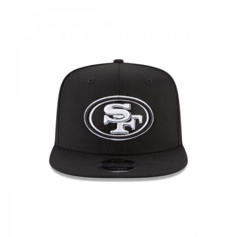 SAN FRANCISCO 49ERS BLACK AND WHITE HIGH CROWN 9FIFTY SNAPBACK
