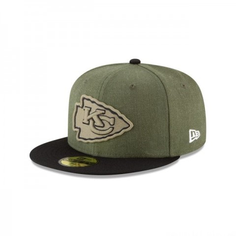 KANSAS CITY CHIEFS SALUTE TO SERVICE KIDS 59FIFTY FITTED