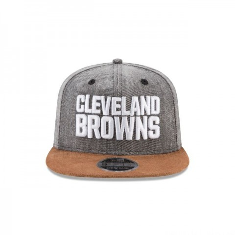 CLEVELAND BROWNS BUFFALO PLAID 9FIFTY SNAPBACK - Sale