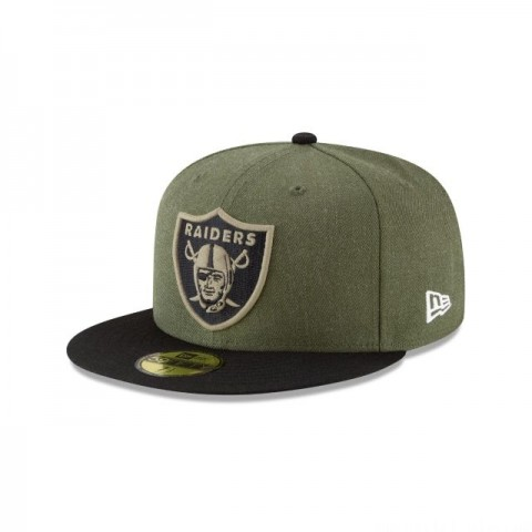 OAKLAND RAIDERS SALUTE TO SERVICE KIDS 59FIFTY FITTED