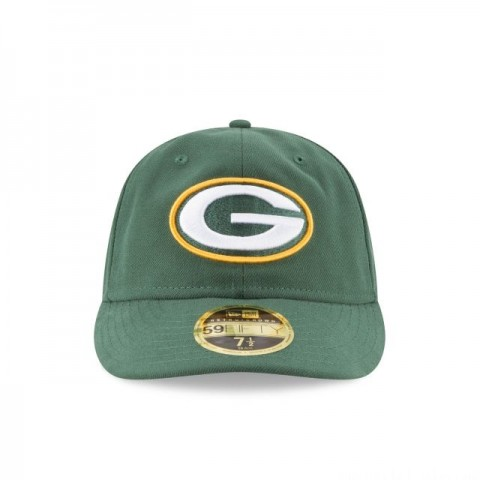GREEN BAY PACKERS FAN FIT RETRO CROWN 59FIFTY FITTED - Sale