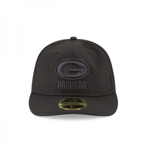 GREEN BAY PACKERS FAN FIT RETRO CROWN BLACK 59FIFTY FITTED - Sale
