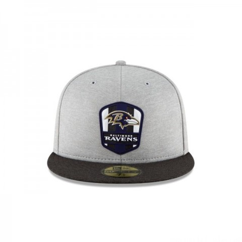 BALTIMORE RAVENS OFFICIAL SIDELINE ROAD KIDS 59FIFTY FITTED