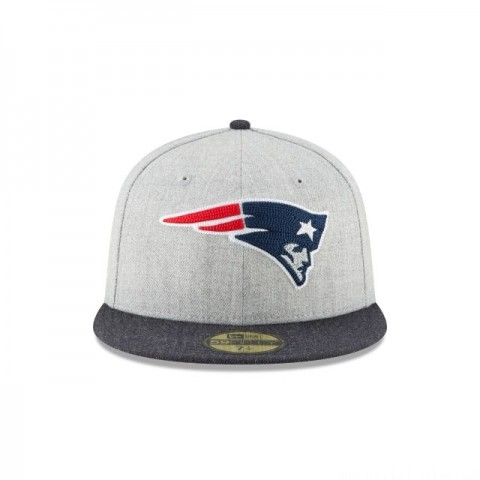 NEW ENGLAND PATRIOTS HEATHER CRISP 59FIFTY FITTED - Sale