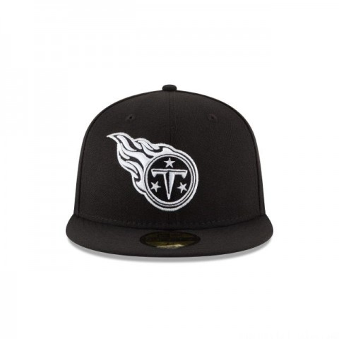 TENESSE TITANS  BLACK & WHITE 59FIFTY FITTED