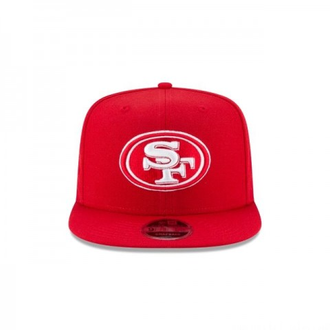 SAN FRANCISCO 49ERS SCARLET HIGH CROWN 9FIFTY SNAPBACK