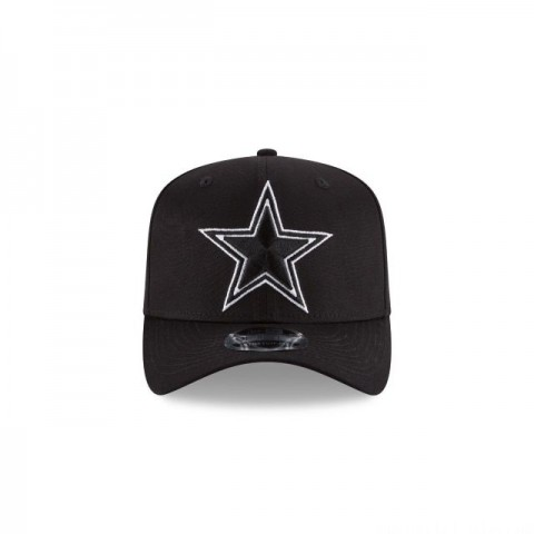 DALLAS COWBOYS BLACK AND WHITE STRETCH SNAP 9FIFTY SNAPBACK - Sale