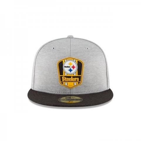 PITTSBURGH STEELERS OFFICIAL SIDELINE ROAD KIDS 59FIFTY FITTED - Sale