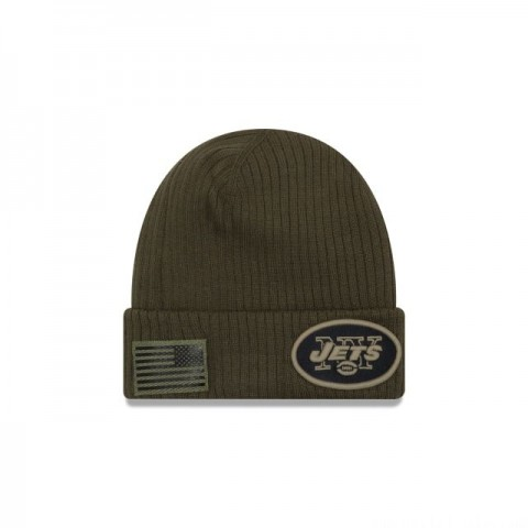 NEW YORK JETS SALUTE TO SERVICE CUFF KNIT
