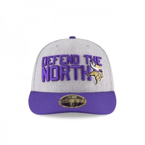 MINNESOTA VIKINGS NFL DRAFT ON STAGE LOW PROFILE 59FIFTY FITTED - Sale