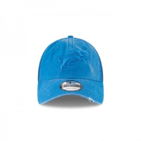 DETROIT LIONS TONAL WASHED TRUCKER 9TWENTY ADJUSTABLE - Sale