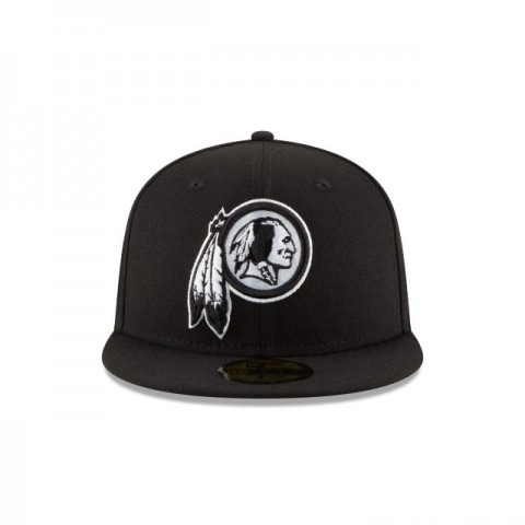 WASHINGTON REDSKINS BLACK & WHITE 59FIFTY FITTED