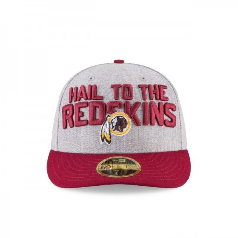 WASHINGTON REDSKINS NFL DRAFT ON STAGE LOW PROFILE 59FIFTY FITTED
