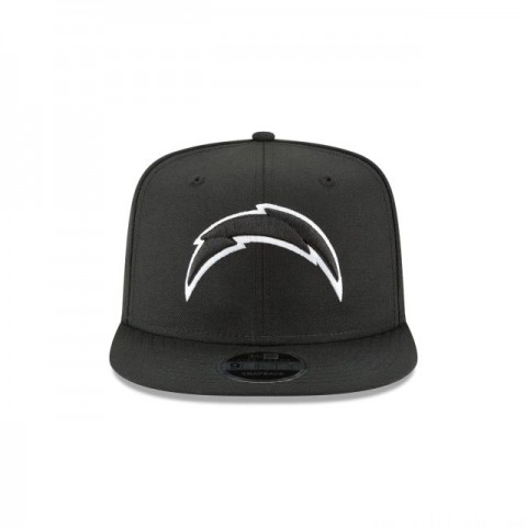 LOS ANGELES CHARGERS BLACK AND WHITE HIGH CROWN 9FIFTY SNAPBACK - Sale