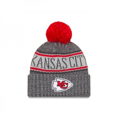KANSAS CITY CHIEFS GRAPHITE COLD WEATHER SPORT KNIT