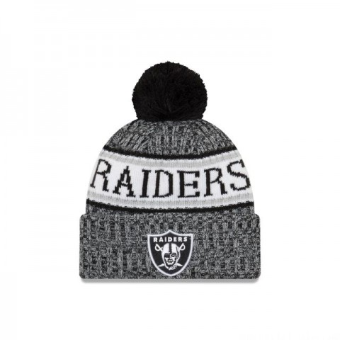 OAKLAND RAIDERS BLACK AND WHITE COLD WEATHER SPORT KNIT - Sale