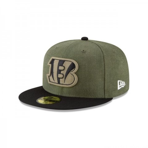 CINCINNATI BENGALS SALUTE TO SERVICE 59FIFTY FITTED